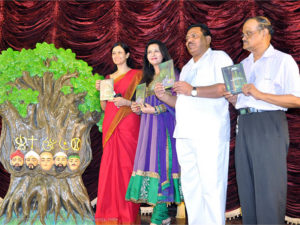 Veteran bollywood actress Poonam Dhillon along with eminent dignitaries, releasing DVD of Junglee Band.
